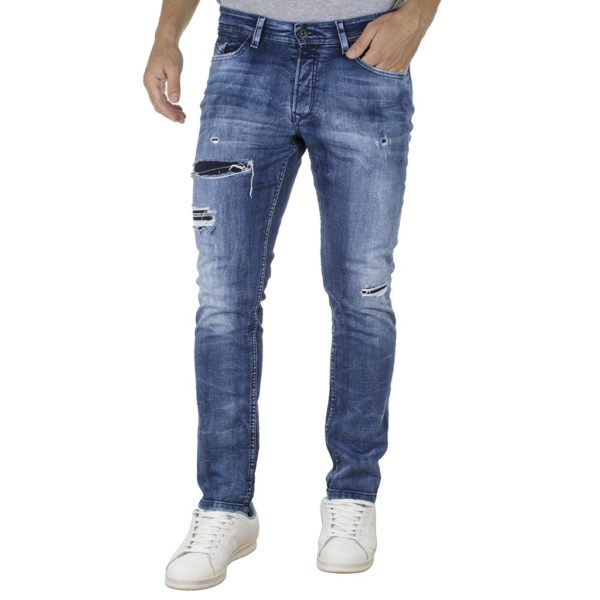 Τζιν Παντελόνι Back2jeans B4A slim Sky Blue