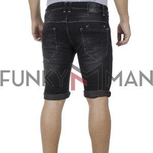 Τζιν Βερμούδα DAMAGED Jeans DB10 SS19 damaged Μαύρο
