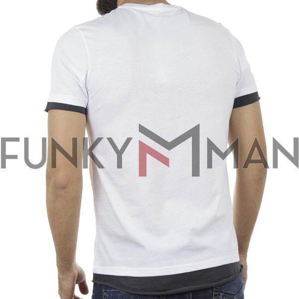 Κοντομάνικη Μπλούζα Fashion T-Shirt FREE WAVE 81112 Λευκό