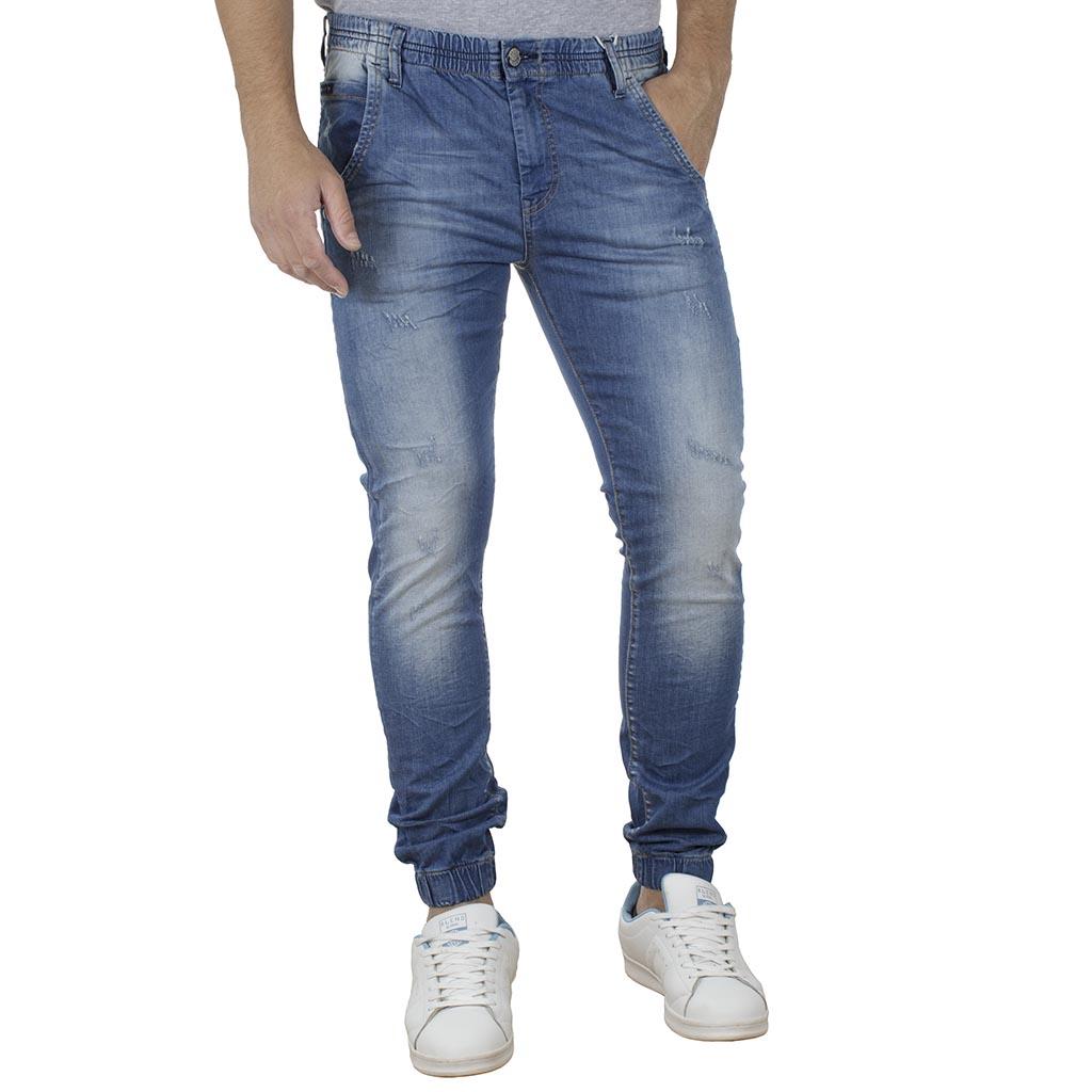 fd9f55311e0 Τζιν Παντελόνι με Λάστιχα Slim SHAFT Jeans L5702 Μπλε