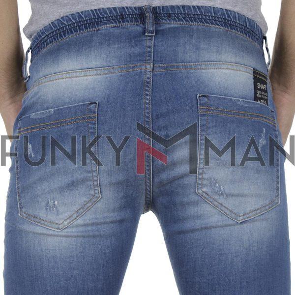 Τζιν Παντελόνι με Λάστιχα Slim SHAFT Jeans L5702 Μπλε