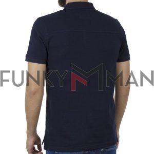Κοντομάνικη Μπλούζα με Γιακά Polo SPLENDID 41-206-014 Navy