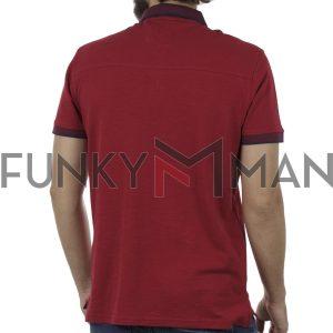 Κοντομάνικη Μπλούζα με Γιακά Polo SPLENDID 41-206-014 Κόκκινο