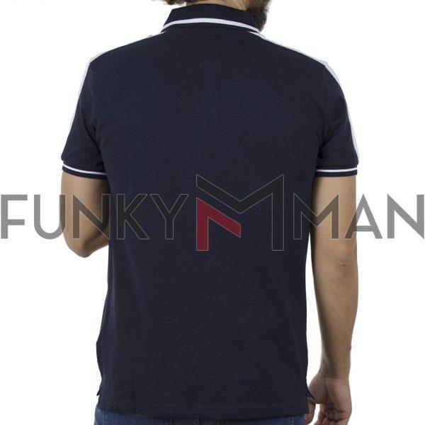 Κοντομάνικη Μπλούζα με Γιακά Polo SPLENDID 41-206-017 Navy