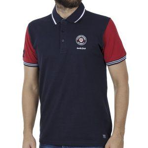 Κοντομάνικη Μπλούζα με Γιακά Polo SPLENDID 41-206-038 Navy