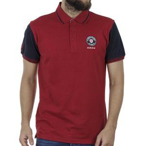 Κοντομάνικη Μπλούζα με Γιακά Polo SPLENDID 41-206-038 Κόκκινο