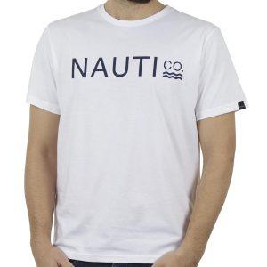 Κοντομάνικη Μπλούζα T-Shirt BIGMAN BM-492 Λευκό
