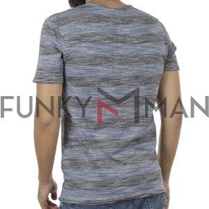 Ριγέ Κοντομάνικη Μπλούζα T-Shirt BLEND 20705344 Μπλε