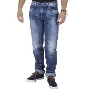 Τζιν Παντελόνι Ψηλόμεσο Regular Fit Back2jeans B11A Μπλε