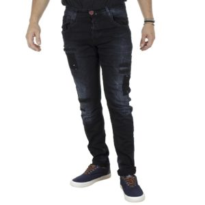 Τζιν Παντελόνι Slim Fit Back2jeans W2A Blueblack