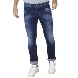 Τζιν Παντελόνι Slim Fit DAMAGED D15B Μπλε