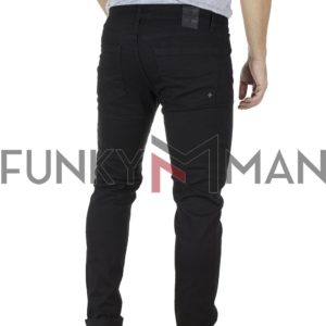 Τζιν Παντελόνι Regular Fit DAMAGED D30BK Μαύρο