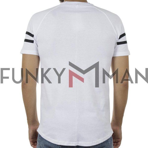 Κοντομάνικη Πικέ Μπλούζα T-Shirt FREE WAVE 91113 Λευκό