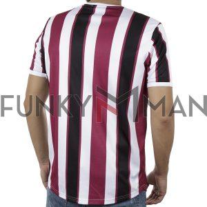 Ριγέ Κοντομάνικη Μπλούζα Fashion T-Shirt FREE WAVE 91119 Μωβ