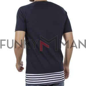 Κοντομάνικη Μπλούζα Fashion T-Shirt PONTEROSSO 18-1149 Navy