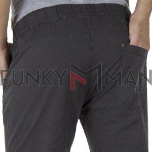 Παντελόνι με Λάστιχα στη Μέση & Πόδια VICTORY DEGAS σκούρο Γκρι
