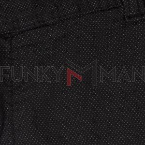 Υφασμάτινη Βερμούδα Chinos DAMAGED Jeans DB10B Μαύρο