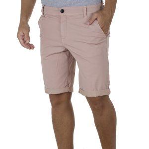 Υφασμάτινη Βερμούδα Chinos DAMAGED Jeans DB10B Ροζ