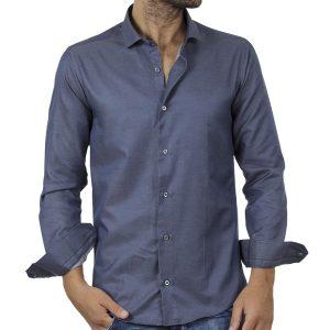 Μακρυμάνικο Πουκάμισο Slim Fit ENDESON FASHION 135-100 Μπλε