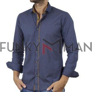 Μακρυμάνικο Πουκάμισο Slim Fit ENDESON FASHION 7060 Μπλε