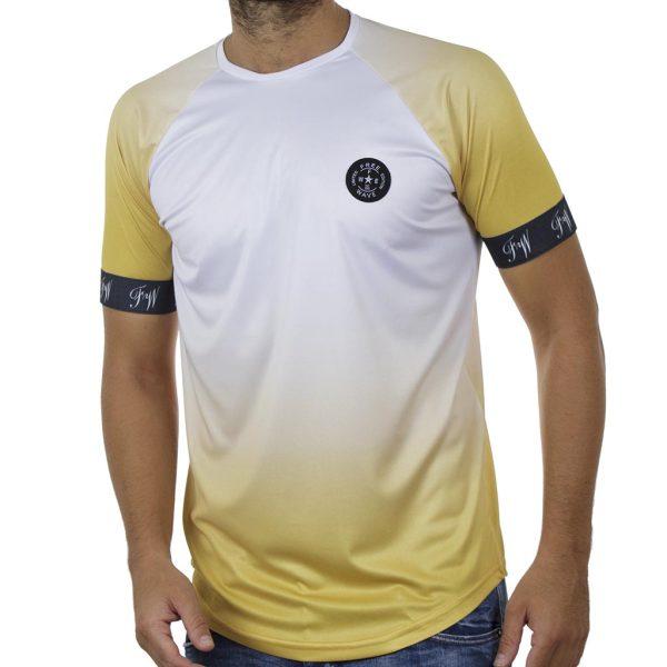 Κοντομάνικη Μπλούζα Fashion T-Shirt FREE WAVE 91114 Κίτρινο