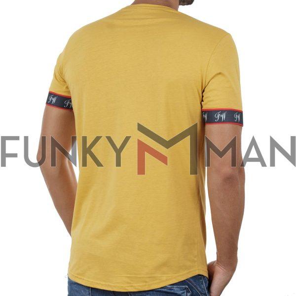 Κοντομάνικη Μπλούζα T-Shirt FREE WAVE 91122 Κίτρινο