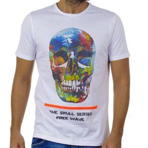 Κοντομάνικη Μπλούζα T-Shirt FREE WAVE 91124 Λευκό