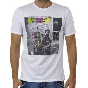 Κοντομάνικη Μπλούζα T-Shirt FREE WAVE 91125 Λευκό