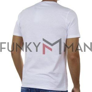 Κοντομάνικη Μπλούζα T-Shirt FREE WAVE 91126 Λευκό