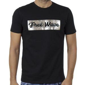 Κοντομάνικη Μπλούζα T-Shirt FREE WAVE 91127 Μαύρο