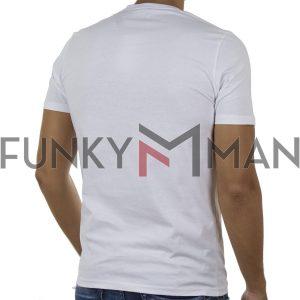 Κοντομάνικη Μπλούζα T-Shirt FREE WAVE 91127 Λευκό