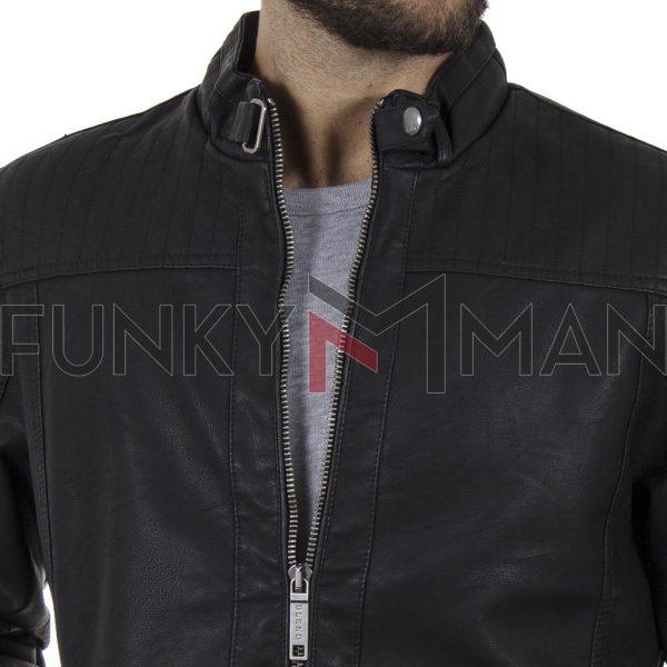Jacket Τεχνόδερμα BLEND 20708662 Μαύρο