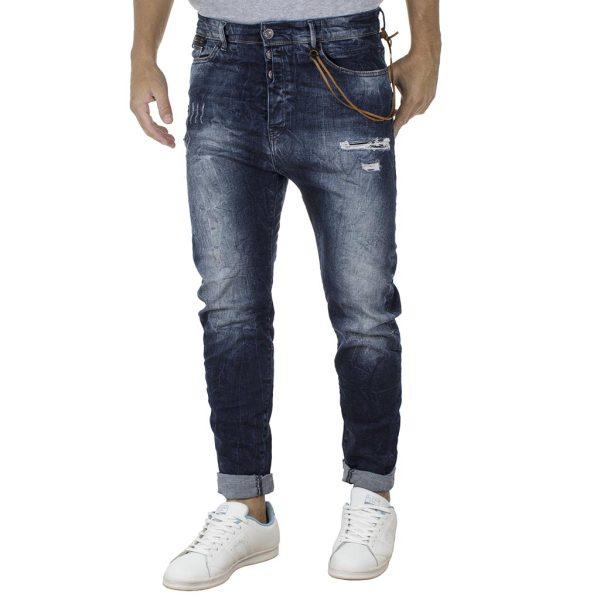 Χαμηλοκάβαλο Τζιν Παντελόνι Boy Fit Back2jeans T14 Μπλε