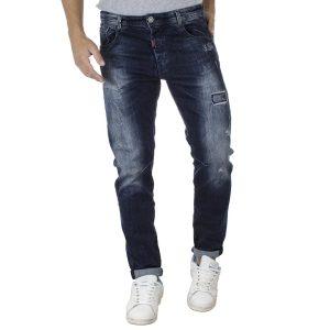 Τζιν Παντελόνι Slim Fit Back2jeans T18 Μπλε