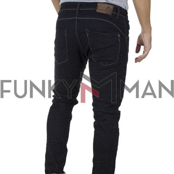 Τζιν Παντελόνι Slim Fit Back2jeans T9A Μαύρο