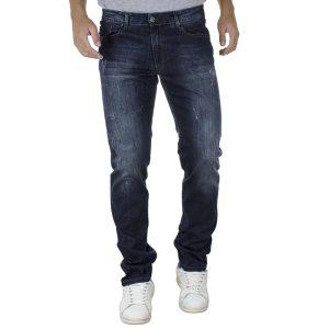 Τζιν Παντελόνι Regular Fit Back2jeans T2A σκούρο Μπλε