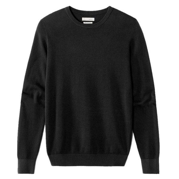 Βαμβακερή Πλεκτή Μπλούζα CELIO NEPIC Μαύρο