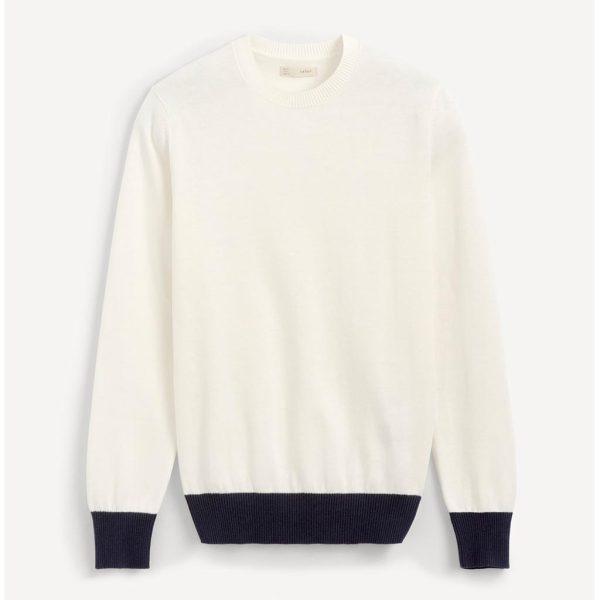 Βαμβακερή Πλεκτή Μπλούζα CELIO PECOOL Λευκό