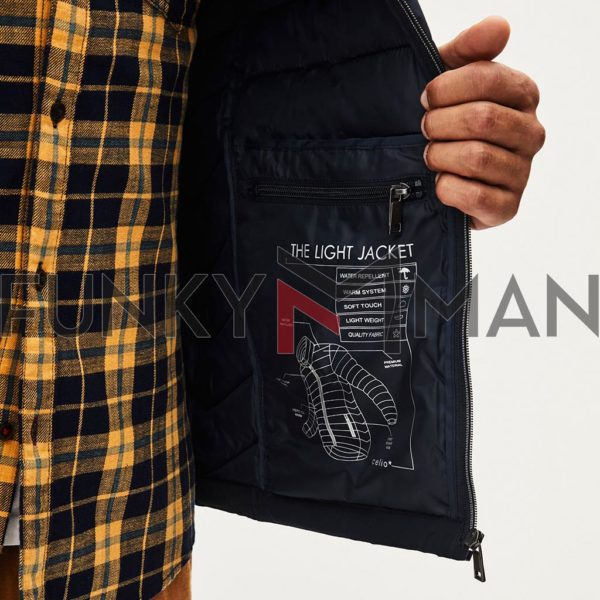 Ελαφρύ Φουσκωτό Μπουφάν Puffer Jacket CELIO Navy