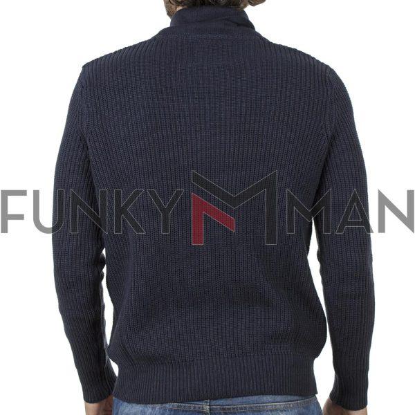 Πουλόβερ Πλεκτή Μπλούζα Sweater DOUBLE KNIT-27 Navy