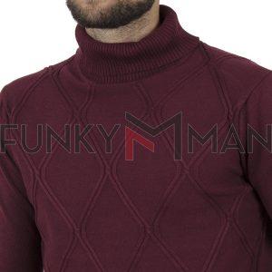 Ζιβάγκο Πουλόβερ Turtle Neck Sweater DOUBLE KNIT-33 Μπορντό