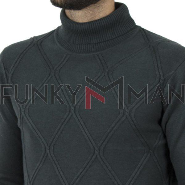 Ζιβάγκο Πουλόβερ Turtle Neck Sweater DOUBLE KNIT-33 Πράσινο