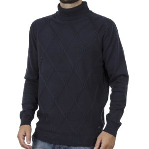 Ζιβάγκο Πουλόβερ Turtle Neck Sweater DOUBLE KNIT-33 Navy