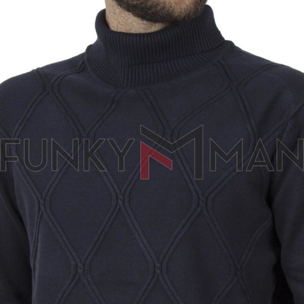 Ζιβάγκο Πουλόβερ Turtle Neck Sweater DOUBLE KNIT-33 Navy