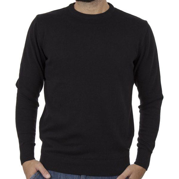 Πλεκτή Μπλούζα Round Neck Sweater DOUBLE KNIT-37 Μαύρο