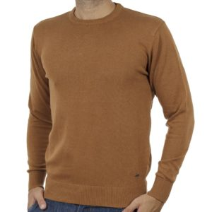 Πλεκτή Μπλούζα Round Neck Sweater DOUBLE KNIT-37 Camel