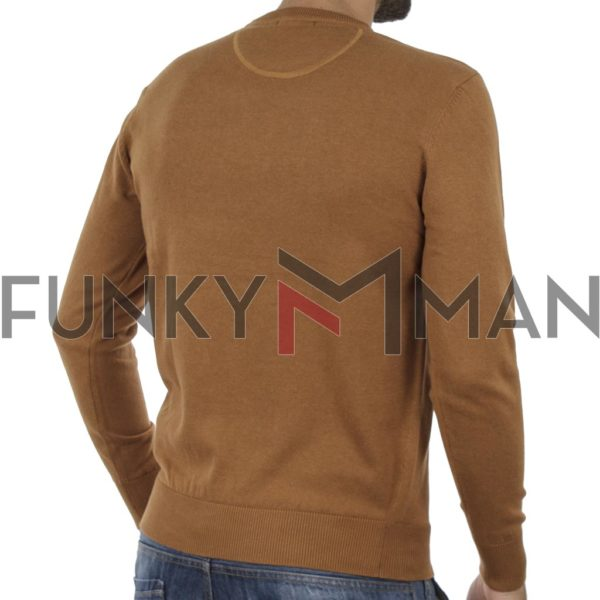 Πλεκτή Μπλούζα Round Neck Sweater DOUBLE KNIT-37 Camel