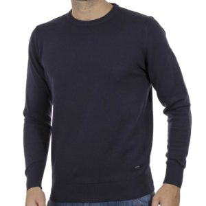 Πλεκτή Μπλούζα Round Neck Sweater DOUBLE KNIT-37 Navy