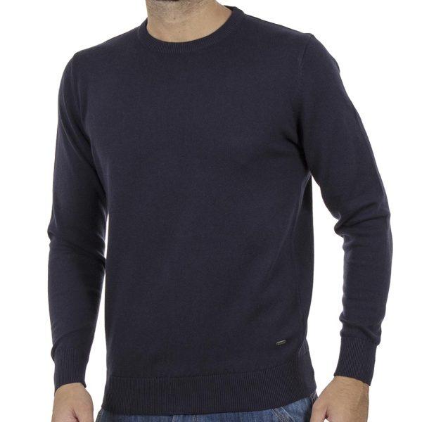 Πλεκτή Μπλούζα Round Neck Sweater DOUBLE KNIT-37 Navy