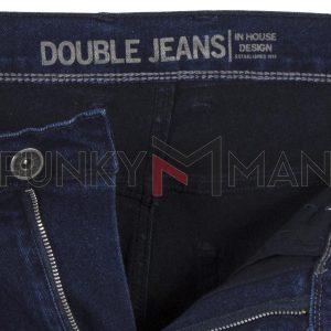 Τζιν Παντελόνι Slim Fit DOUBLE MJP-30 Μπλε
